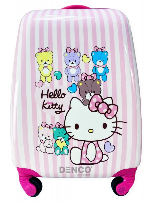 Детский чемодан на колесиках «Hello Kitty» /  Розовый / Размер S