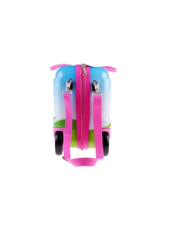 Чемодан-каталка Розовые Единороги. Размер S.