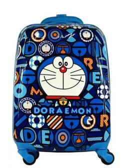 Детский чемодан Дораэмон (Doraemon) синий. Размер S.