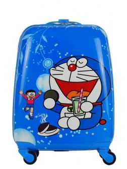 Детский чемодан Дораэмон (Doraemon) голубой. Размер S.