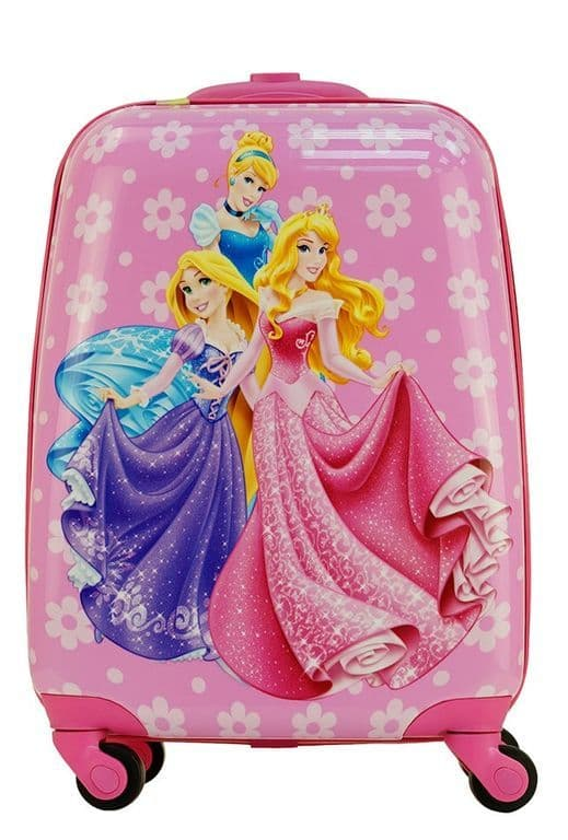 Детский чемодан Принцессы Диснея (Disney Princess) розовый.