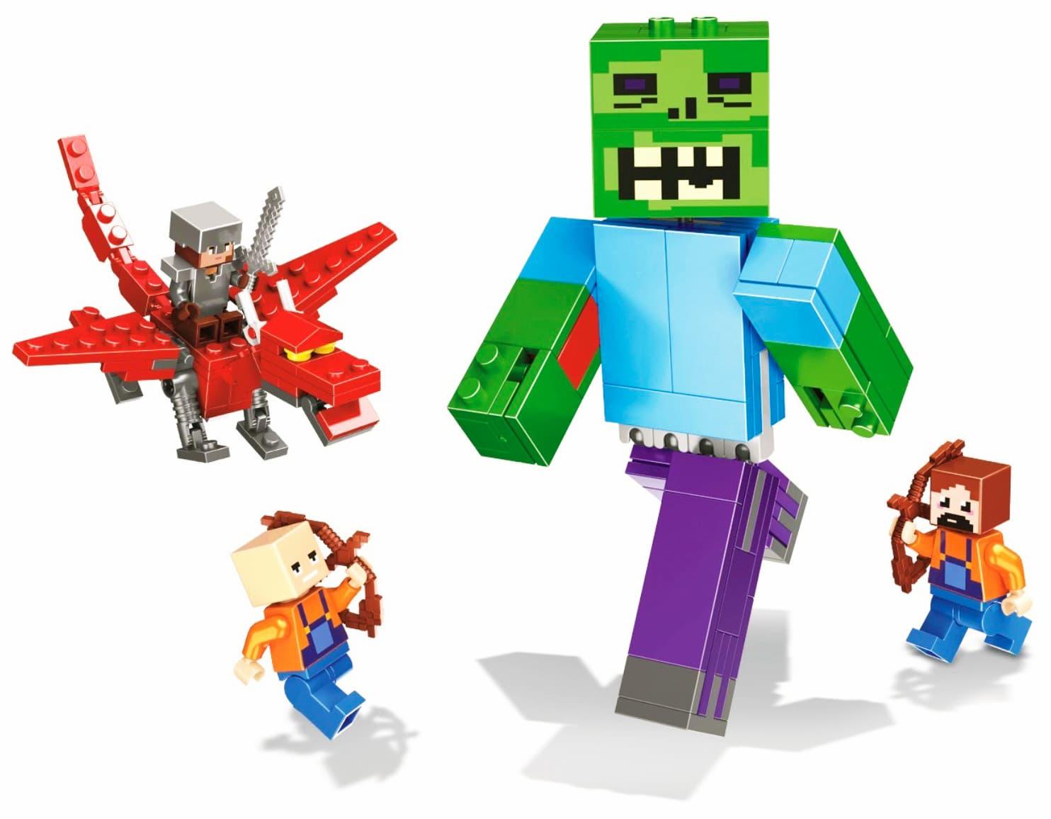 Конструктор Lari «Битва с Зомби-великаном» 11263 Minecraft / 180 деталей