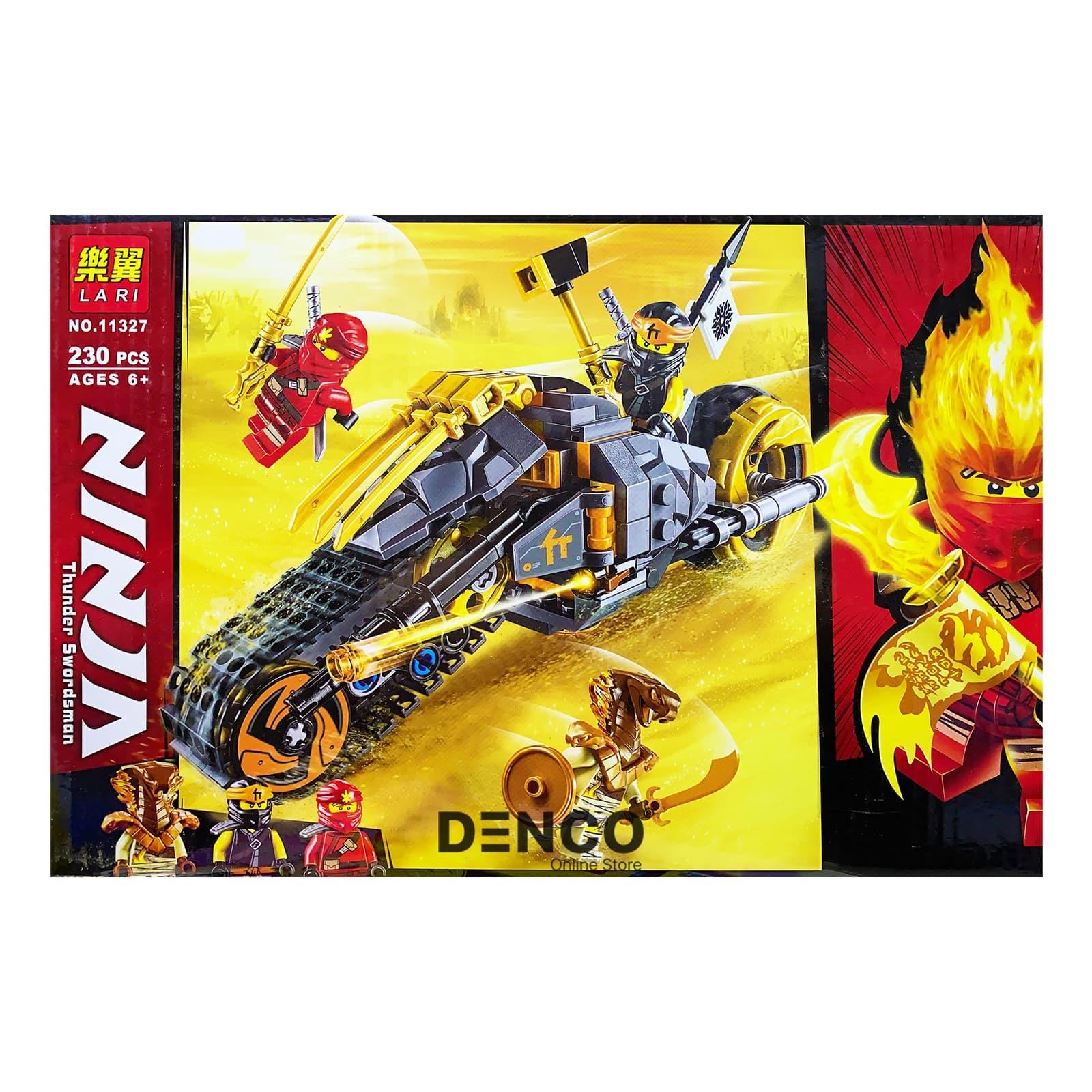 Конструктор Lari «Раллийный мотоцикл Коула» 11327 (НиндзяГо 70672) / 230 деталей