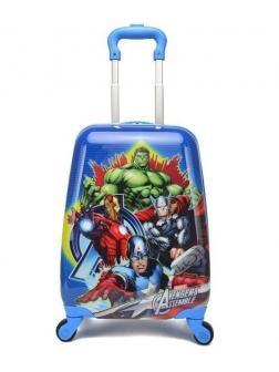 Детский чемодан Мстители (Avengers Marvel) голубой