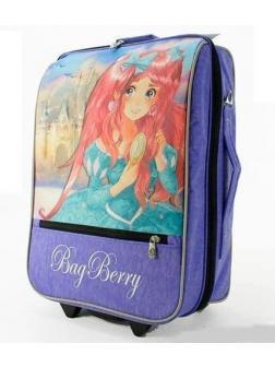Детский чемодан BagBerry с Принцессой фиолетовый