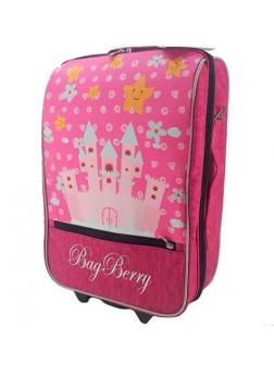 Детский чемодан BagBerry Замок Принцессы фуксия