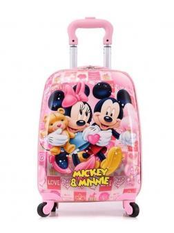Детский чемодан Микки и Минни Маус (Mickey & Minnie Mouse) розовый