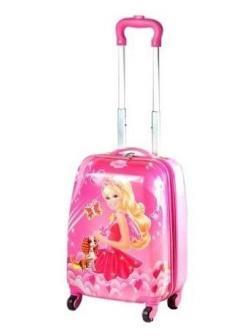 Детский чемодан Барби (Barbie) розовый