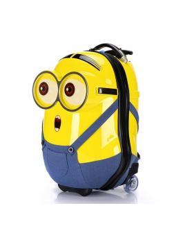Детский чемодан 3D Миньон (Minion) жёлтый