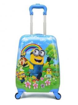 Детский чемодан Миньоны (Minions) голубой