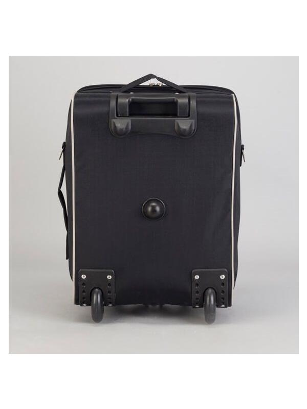 Детский чемодан BagBerry Мишка Тедди (Teddy Bear) чёрно-розовый