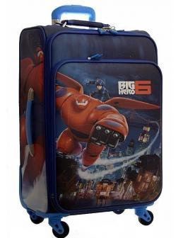 Детский чемодан Город героев (Big Hero) синий. Размер M.