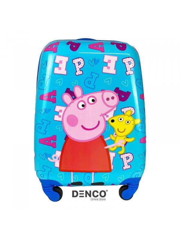 Детский чемодан Свинка Пеппа (Peppa Pig) / Голубой