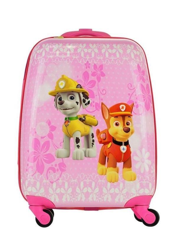 Детский чемодан Щенячий патруль (Paw Patrol) розовый