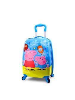Детский чемодан Свинка Пеппа (Peppa Pig) голубой/зеленый
