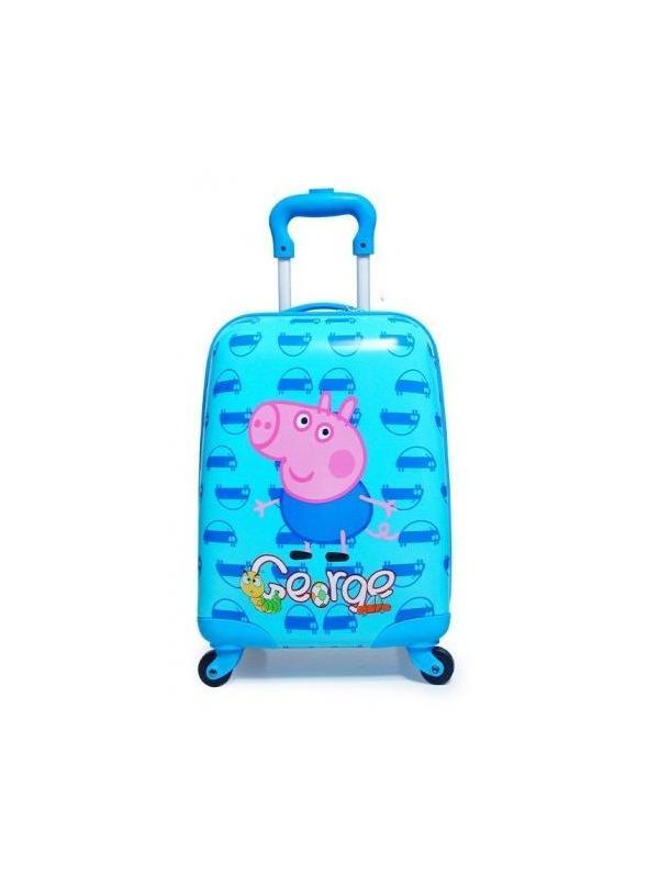 Детский чемодан Свинка Пеппа (Peppa Pig) бирюзовый