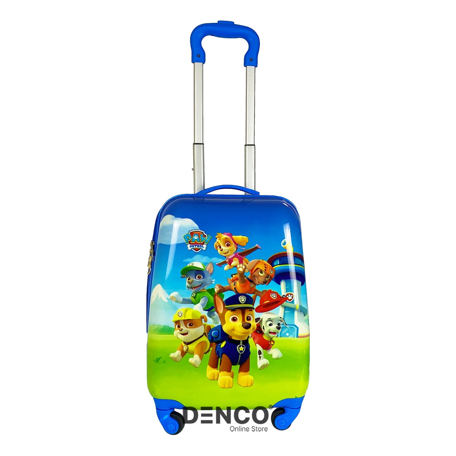 Детский чемодан Щенячий патруль (Paw Patrol) S / Голубой