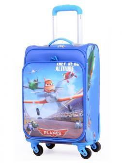 Детский чемодан Самолёты голубой. Размер S.