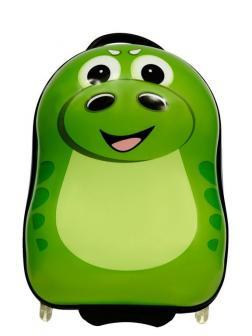 Детский чемодан Динозавр Dino зелёный. Размер S.