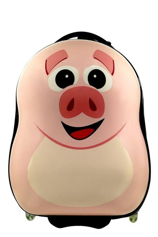 Детский чемодан Свинка Piggy розовый. Размер S.