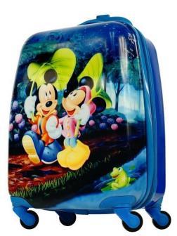 Детский чемодан Микки и Минни Маус (Mickey & Minnie Mouse) синий