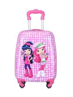 Детский чемодан Подружки розовый. Размер S.