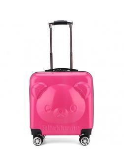 Детский чемодан Rilakkuma (Рилаккума) розовый.