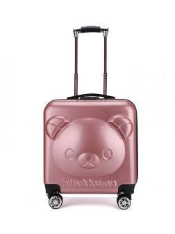 Детский чемодан Rilakkuma (Рилаккума) серебристо-розовый