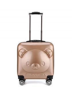 Детский чемодан Rilakkuma (Рилаккума) золотистый