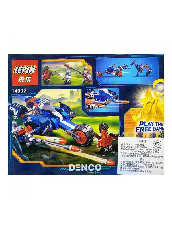 Конструктор Lp «Ланс и его механический конь» 14002 (Нексо Найтс 70312) 255 деталей