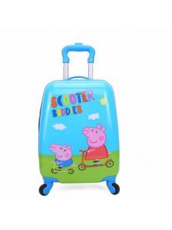 Детский чемодан Свинка Пеппа (Peppa Pig) голубой