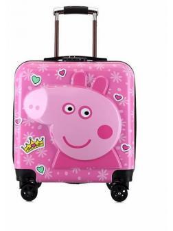 Детский чемодан 3D Свинка Пеппа (Peppa Pig) розовый
