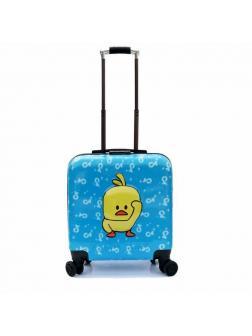Детский чемодан Цыплёнок голубой. Размер S.