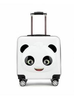 Детский чемодан Панда чёрно-белый. Размер S.