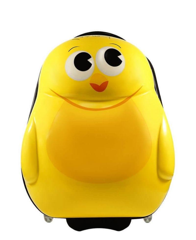 Детский чемодан Цыплёнок жёлтый. Размер S.