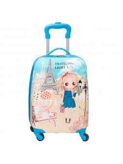 Детский чемодан Travelling light голубой. Размер S.