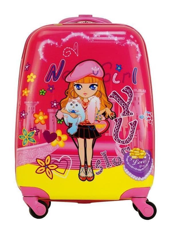 Детский чемодан Кукла фуксия. Размер S.