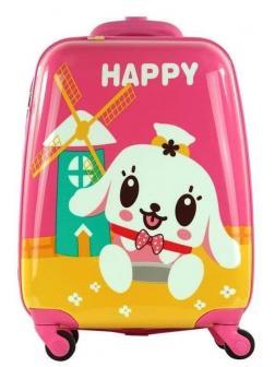 Детский чемодан Happy розовый. Размер S.