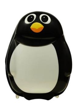 Детский чемодан Пингвин чёрно-белый. Размер S.