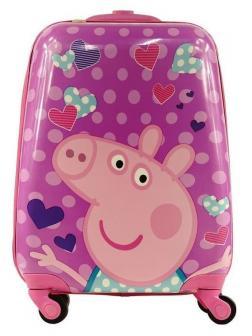 Детский чемодан Свинка Пеппа (Peppa Pig) сиреневый