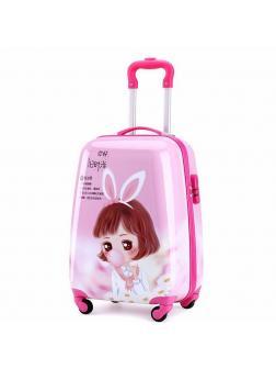 Детский чемодан Аниме (Anime) розовый Размер S.