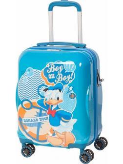 Детский чемодан Дональд Дак (Donald Duck) голубой