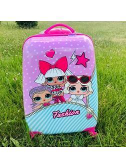 Детский чемодан Куклы ЛОЛ (LOL) / S / Розовый