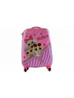 Детский чемодан Куклы ЛОЛ (LOL) розовый