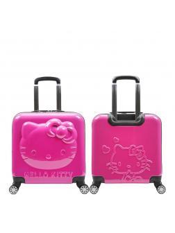 Детский чемодан 3D Hello Kitty (Хеллоу Китти) фуксия