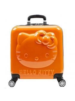 Детский чемодан 3D Hello Kitty (Хеллоу Китти) оранжевый