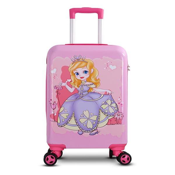 Детский чемодан Принцесса розовый Размер S.