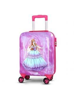 Детский чемодан Принцесса сиреневый Размер S