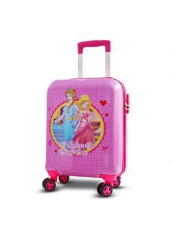 Детский чемодан Принцессы розовый Размер S