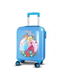 Детский чемодан Принцессы голубой Размер S